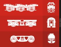 Train wheel illustration Stock Photos