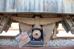 Train wheel. Steel railway thailand Royalty Free Stock Photo
