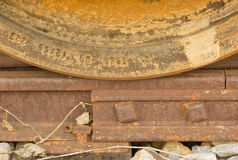 Train wheel on track Royalty Free Stock Photography