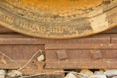 Train wheel on track Royalty Free Stock Photography