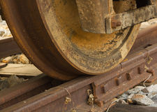 Train wheel on track Stock Photos