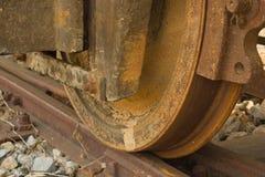 Train wheel on track Royalty Free Stock Photo
