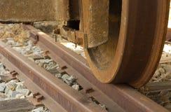 Train wheel on track Royalty Free Stock Image