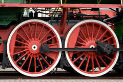 Train wheels Stock Photo