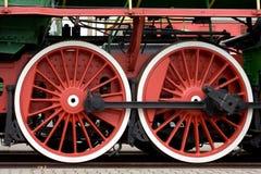 Train wheels. A set of old steam train wheels Stock Photo