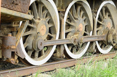 Train wheels. Wheels of a old steam train Royalty Free Stock Image