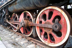 Train wheels. On a old locomotive Royalty Free Stock Image