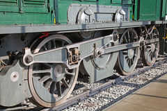 Train Wheels. Close up Detail of Steam Train Wheels Royalty Free Stock Photography