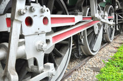 Train wheels. Royalty Free Stock Photo