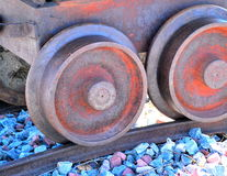 Train wheels. Royalty Free Stock Image