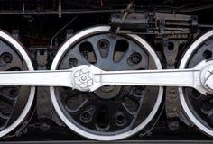 Train wheels. Wheels on an old locomotive Stock Image