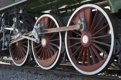 Train wheels Stock Image
