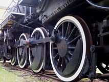 Train Wheels At The Alberta Railway Museum Stock Photo