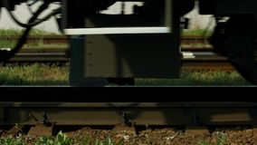 Train wheels close up. stock footage