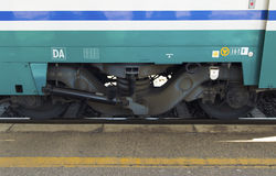 Train wheels Stock Images
