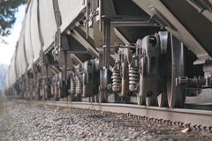 Train Wheels Meet Track Royalty Free Stock Photography
