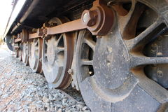Train wheels. Old train wheels not in use anymore Stock Photo