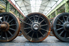 The train wheels in repair Royalty Free Stock Photos