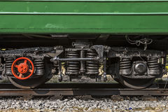 Train wheels and suspension Royalty Free Stock Photos