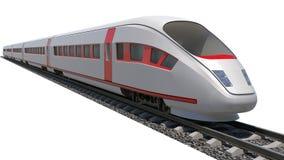 Train on white background royalty free stock image