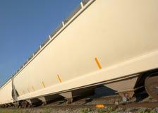 Train white yellow wagon Royalty Free Stock Photos