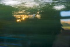 Train window in dynamics. View from the train window in dynamics royalty free stock photography