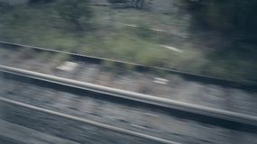 From a train window stock footage