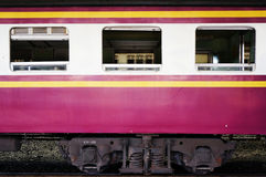 Train, windows and bogie Stock Image