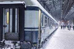 Train at winter Royalty Free Stock Photography