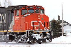 Train in Winter Canada Stock Image