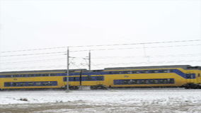 Train in winter stock video footage