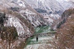 Train in Winter landscape Stock Photos