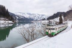 Train in Winter landscape Stock Photo