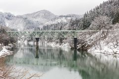 Winter landscape Fukushima Japan royalty free stock photo