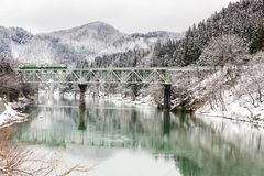 Train in Winter landscape snow Stock Photography