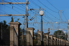 Train wires Stock Photos