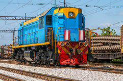 Free Train With Special Track Equipment At Repairs Stock Photos - 49510163