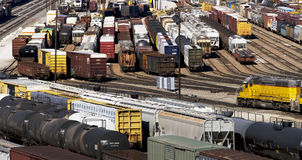 Train Yard. Train yard in Fort Worth,Texas stock photo