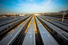 Train yard Royalty Free Stock Photography
