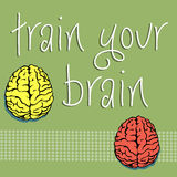 Train your brain Royalty Free Stock Photos