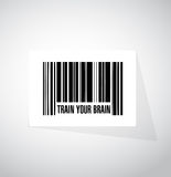 Train your brain barcode sign concept Stock Image