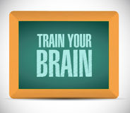 Train your brain chalkboard sign concept Royalty Free Stock Photography