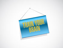 Train your brain hanging sign concept Stock Images