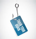 Train your brain hook sign concept Stock Image