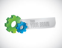 Train your brain industrial sign concept Stock Photography