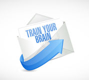 Train your brain mail sign concept. Illustration design Stock Photography
