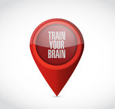 Train your brain pointer sign concept Stock Image