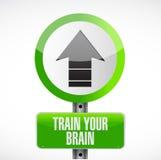 Train your brain road sign concept. Illustration design Stock Photos