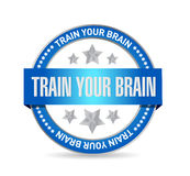 Train your brain seal sign concept. Illustration design Royalty Free Stock Images