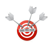 Train your brain target sign concept Royalty Free Stock Image